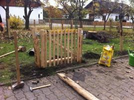 Gartentür betonieren