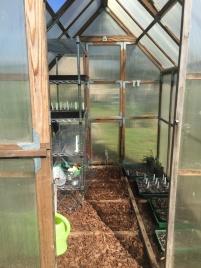 Einzug der frisch eingesäten Pflanzensamen