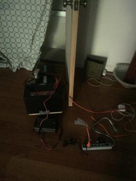 Batterie mit Inverter