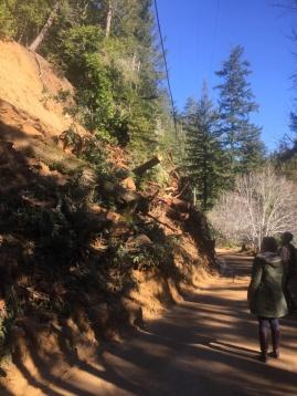 Besucher am Erdrutsch